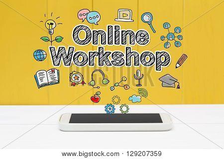 Online Workshop Concept With Smartphone