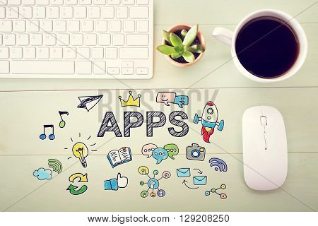Apps Concept With Workstation
