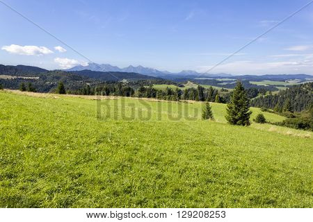 Panorama of the Tatra Mountains as seen from Slovakia ** Note: Visible grain at 100%, best at smaller sizes