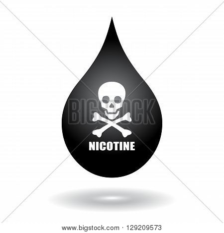 Nicotine vector  icon isolated on white background