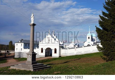 Tervenichi, Russia - 8 May 2016- The Protection of the Mother of God Convent in Tervenichi. Church of the Intercession of the Mother of God in 8 May 2016, Tervenichi, Russia
