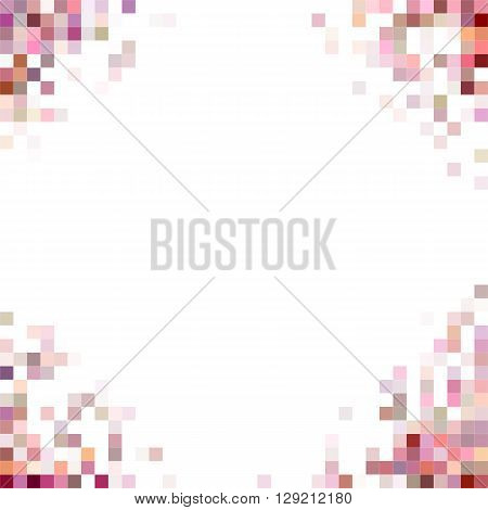 Four corner square mosaic vector background design