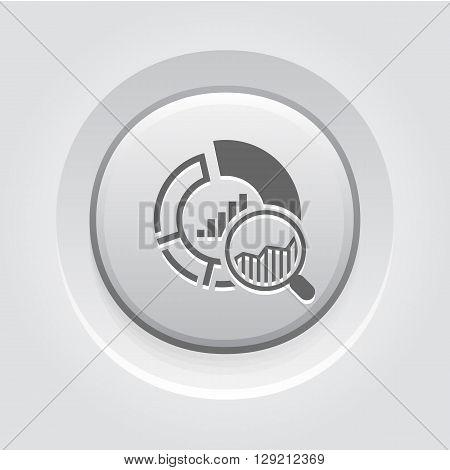 Small Data Icon. Business Concept. Grey Button Design