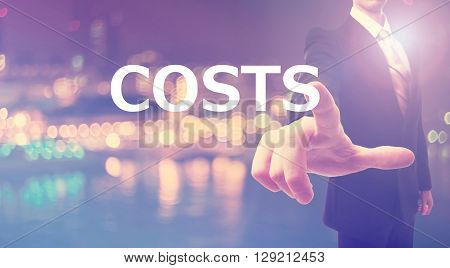 Costs Concept With Businessman