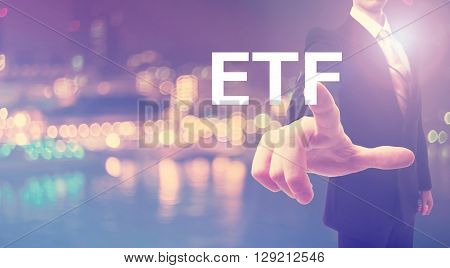 Etf Concept With Businessman