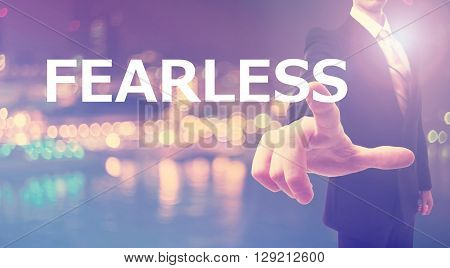 Fearless Concept With Businessman