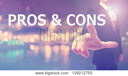 Pros And Cons Concept With Businessman