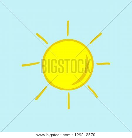 weather icon sun clear weather  sunny hot