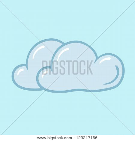 cloudy clouds on blue background weather icon cool windy