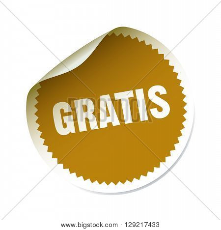 Golden Vector Sticker. Graphic Element and Text Gratis