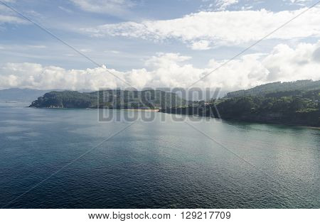 Natural landscape, Northern Spain coastline in Asturias