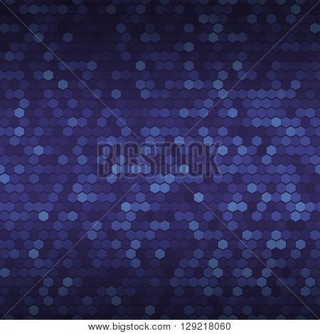 Seamless dark blue geometric pattern. Abstract background