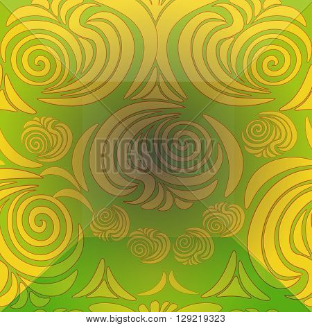 floral ornament with Victorian brink yellow vector illustration