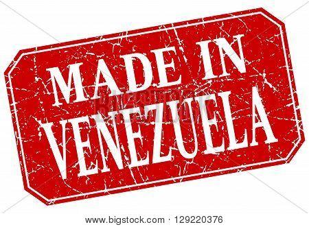 made in Venezuela red square grunge stamp