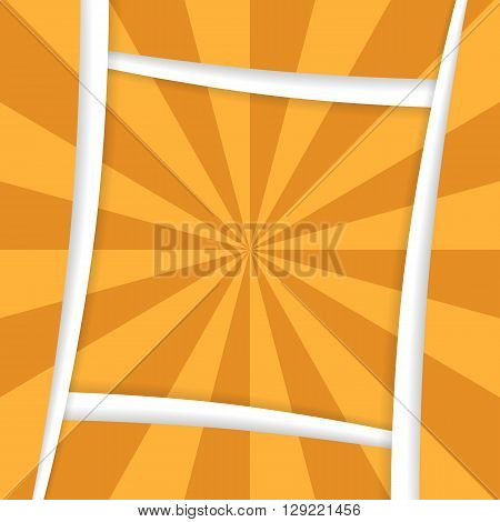 Square background with radial pattern sand color.