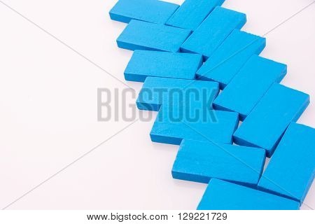 Blue Color Dominoes on a white background