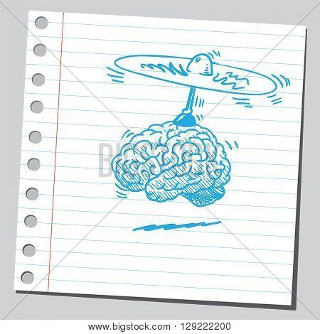 Brain with propeller