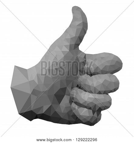 Triangulated approved hand in EPS 8 format