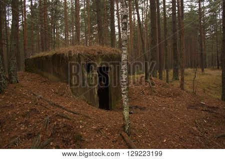 2 World War is abandoned bomb shelter