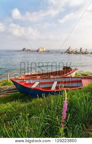 Marine beautiful landscape in Asturias coast, Spain