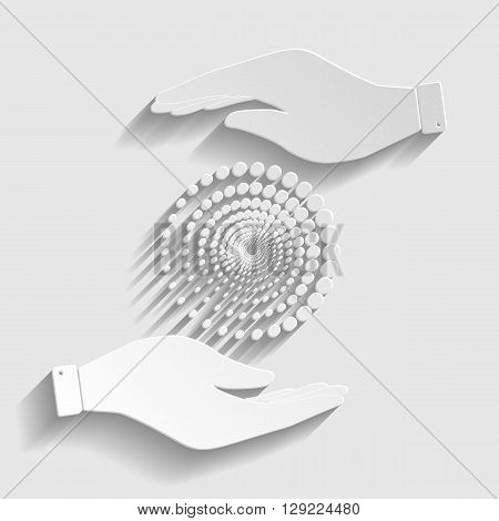 Abstract technology circles sign. Flat style icon vector illustration.