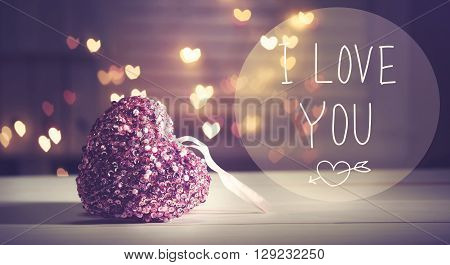 I Love You Message With Pink Heart