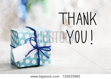 Thank You Message With Gift Box