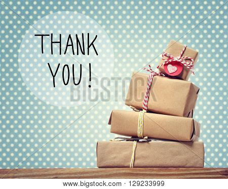 Thank You Message With Gift Boxes