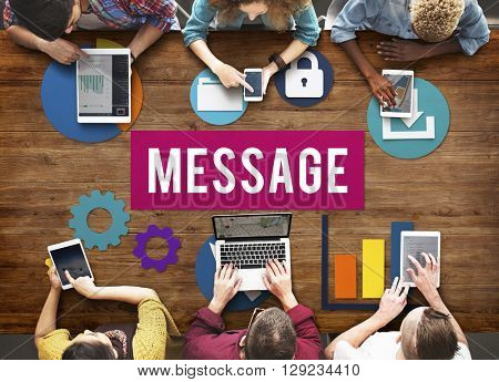 Message Chatting Communication Information Concept