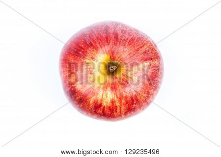 Red apple on white background, stock photo