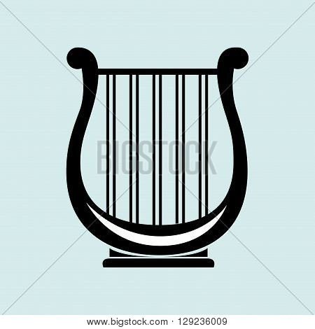 harp isolated design, vector illustration eps10 graphic