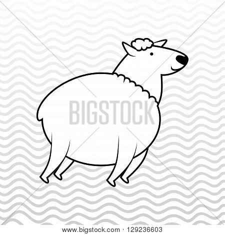 counting sheep design, vector illustration eps10 graphic