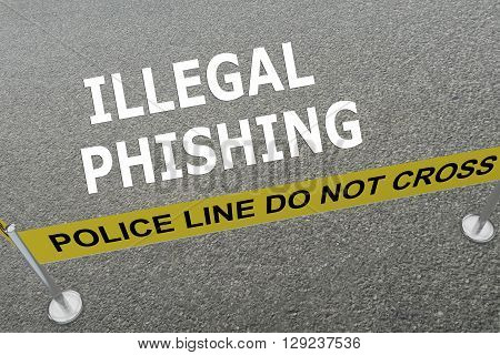 Illegal Phishing Concept