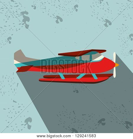 seaplane icon design, vector illustration eps10 graphic