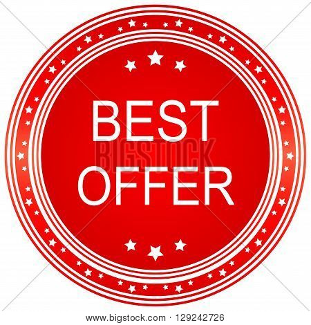 Best Offer Red Vector Icon Design. Best offer.