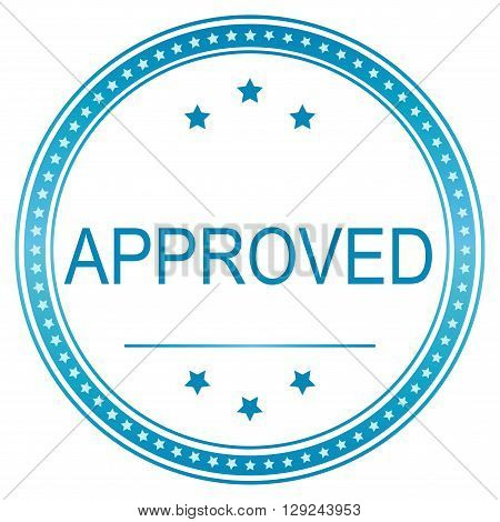 Approved sticker tag label sign icon. vector