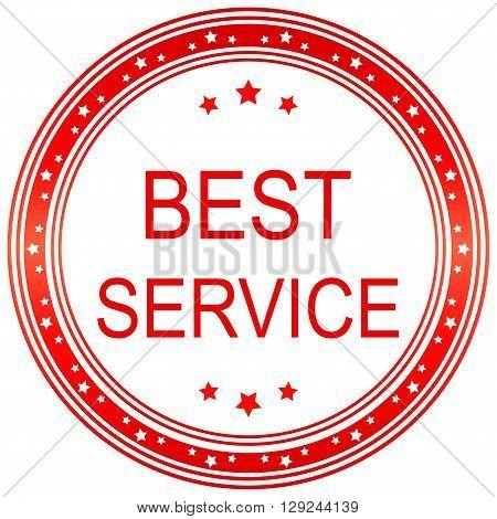 Best service. Best service seal. Best service sticker. Vector image.