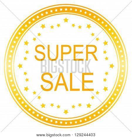 sale banner template design. Super sale seal.