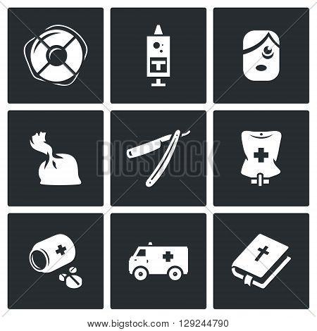 Lifebuoy, Syringe, Man, Drug, Razor, Dropper, Pills, Transport, Bible