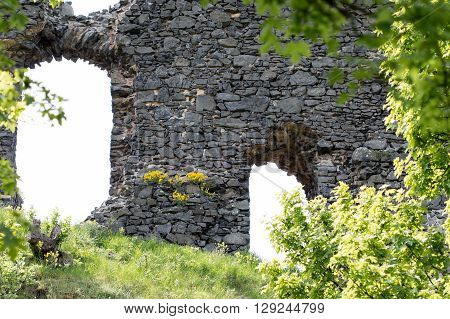 Ruins of the Kostalov Castle on Kostalov Hill Czech republic