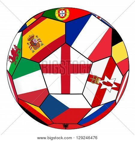 Ball With Flag Of England In The Center