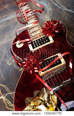 Electric guitar as a Christmass or birthday present