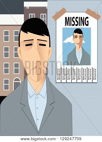 Feeling lost, missing happiness. EPS8 vector illustration