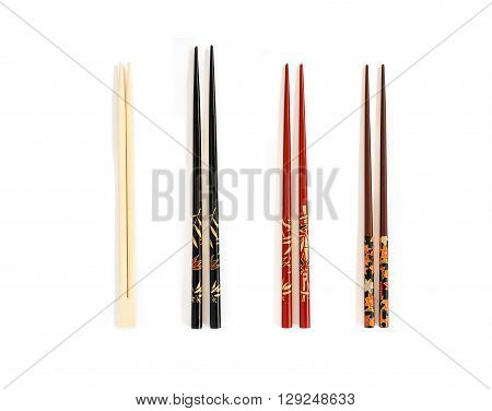 Four Different Pairs Of Chopsticks