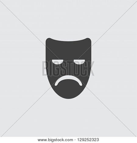 Sad mask icon illustration isolated vector sign symbol