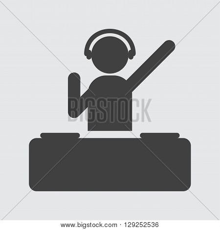 Dj icon illustration isolated vector sign symbol