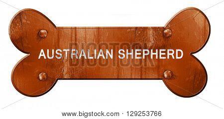 Australian shepherd, 3D rendering, rough brown dog bone