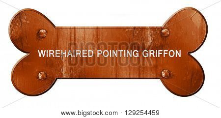Wirehaired pointing griffon, 3D rendering, rough brown dog bone