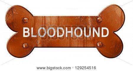 Bloodhound, 3D rendering, rough brown dog bone