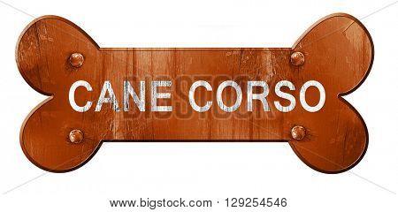 Cane corso, 3D rendering, rough brown dog bone
